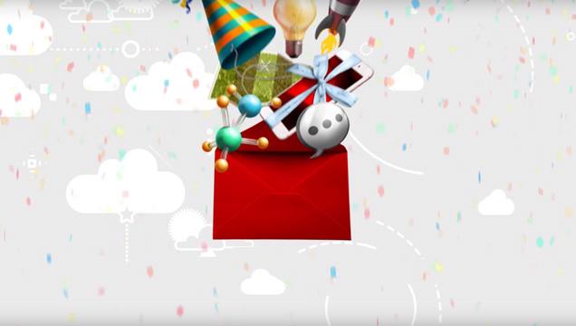 piros boríték teli Vodafone ajándékokkal